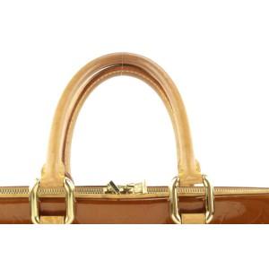Louis Vuitton Bronze Monogram Vernis Copper Van Dam Attache Briefcase 198lvs29
