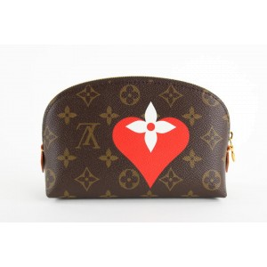 Louis Vuitton Game On Monogram Heart Cosmetic Pouch Make Up Case 20LVS1210