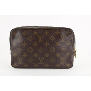 Louis Vuitton Monogram Trousse 23 Cosmetic Pouch Make up Bag 15LVS1211