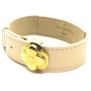 Louis Vuitton Cream Good Luck Fleur Bracelet Cuff Bangle 861585