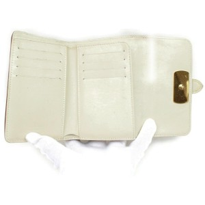 Louis Vuitton Ivory Suhali Leather Le Somptueux Compact Portefeuille Wallet 858060