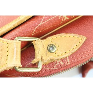 Louis Vuitton 1995 LV Cup Red Bosphore Calvi Messenger Crossbody Bag 234lvs56