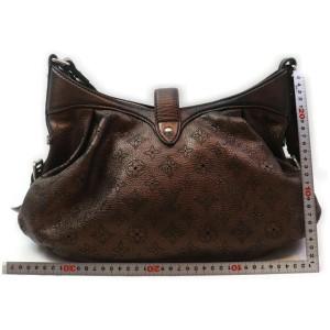 Louis Vuitton Metallic Brown Mahina Leather XS Crossbody Hobo Bag 863002