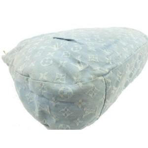 Louis Vuitton Blue Clair Denim Monogram Denim Daily GM Hobo Bag 5LV75