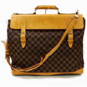 Louis Vuitton Damier Ebene Clipper Bandouliere 2way Suitcase Luggage Carry-On 860217