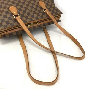 Louis Vuitton Damier Ebene Columbine Zip Tote 860624