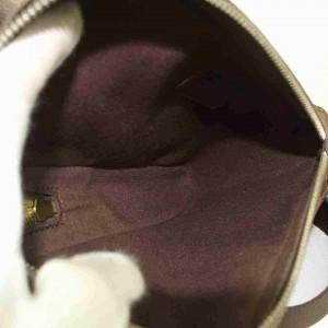 Louis Vuitton Damier Ebene Geronimos Body Bag Fanny Pack Waist Pouch Belt 858009