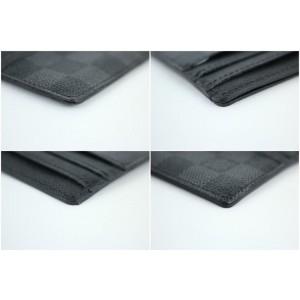 Louis Vuitton Damier Graphite Long Card Case 10lt916 Wallet