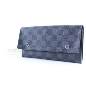 Louis Vuitton Damier Graphite Long Modulable Flap Wallet 19lr0307 Black Coated Canvas Clutch