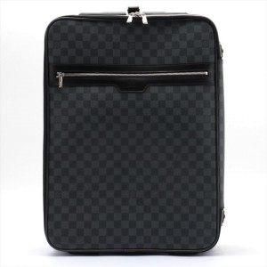 Louis Vuitton Damier Graphite Pegase 50 Rolling Luggage Trolley  861238