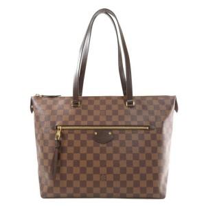 Louis Vuitton Discontinued Damier Ebene Lena MM Zip Tote Iena Jena 860304