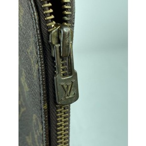 Louis Vuitton Documents Business Document Brown Monogram Clutch 8LV61