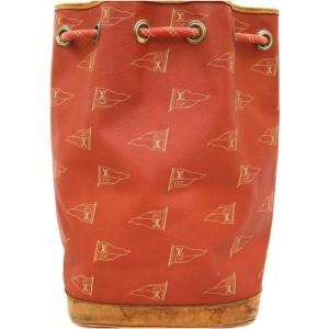 Louis Vuitton LV Cup Red Monogram Saint Tropez Drawstring Backpack 861844