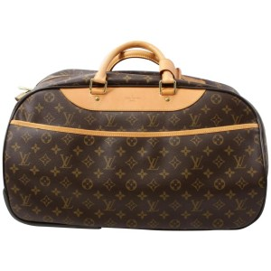 Louis Vuitton Monogram Eole 50 Convertible Duffle Rolling Suitcase Luggage 861357