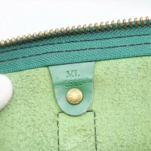 Louis Vuitton Green Epi Leather Keepall 60 Duffle Bag 862260