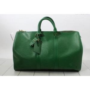 Louis Vuitton Borneo Green Epi Leather Keepall 45 Boston PM Duffle Bag  862123