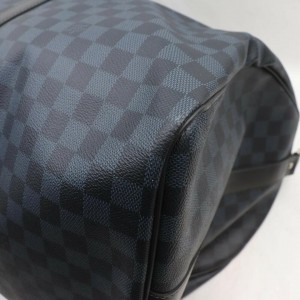 Louis Vuitton Navy Damier Cobalt Keepall Bandouliere 55 Duffle Bag  863042