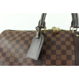 Louis Vuitton Damier Ebene Keepall 50 Boston Duffle Bag 127lvs49