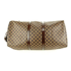 Louis Vuitton  Damier Ebene Keepall Bandouliere 55 Duffle Bag with Strap 1lvlm311