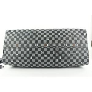 Louis Vuitton Black Distorted Damier Keepall Bandouliere 50 Duffle Bag 125lvs23
