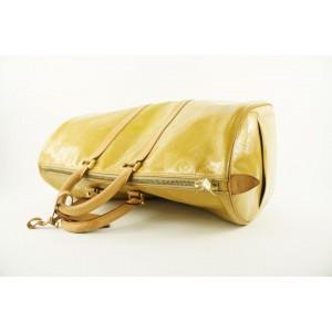 Louis Vuitton Yellow Monogram Vernis Mercer Keepall Duffle Bag 575lvs312