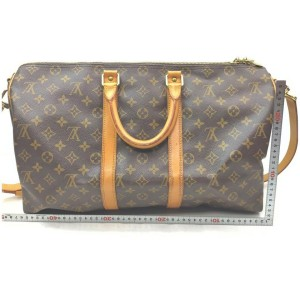 Louis Vuitton Monogram Keepall Bandouliere 45 Boston Duffle Bag with Strap 862507