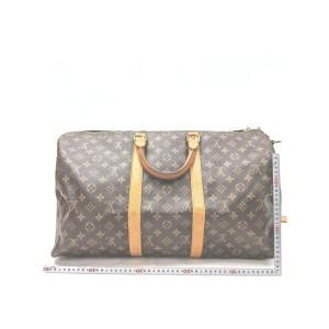 Louis Vuitton Monogram Keepall Bandouliere 50 Boston Duffle Bag with Strap 862764
