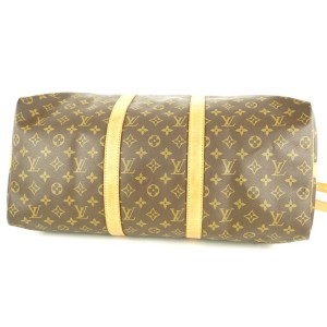 Louis Vuitton Monogram Keepall Bandouliere 50 Duffle Bag with Strap 2lvlm311