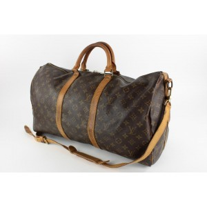 Louis Vuitton Monogram Keepall Bandouliere 50 Duffle Bag with Strap14LVS129