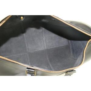 Louis Vuitton Black Epi Leather Noir Keepall 50 Boston Duffle Bag 85lvs427