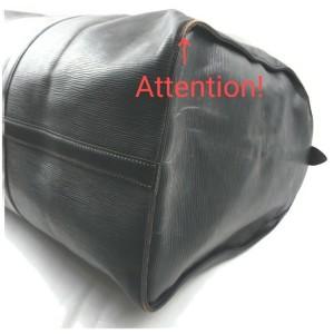 Louis Vuitton Black Epi Leather Noir Keepall 60 Duffle Bag 855474
