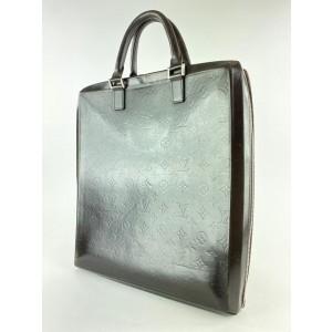 Louis Vuitton Brown Monogram Glace Elvin Briefcase Tote 1SLV127