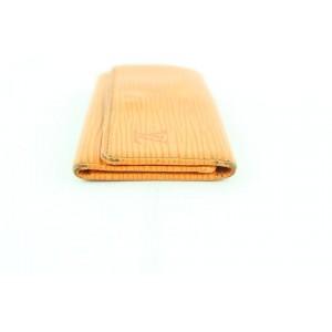 Louis Vuitton Epi 4 Key Holder Multicles 228803 Orange Leather Clutch