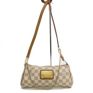 Louis Vuitton Eva Damier Azur 2way 868372 White Coated Canvas Cross Body Bag