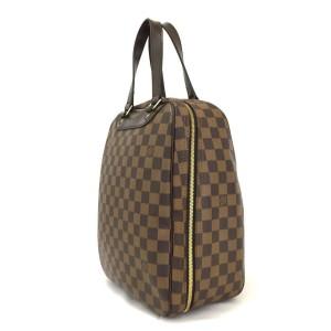 Louis Vuitton Excursion Speedy Alma Ultra Rare Special Order Damier Ebene Sac 860069 Brown Coated Canvas Satchel