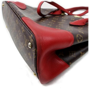 Louis Vuitton 872340 Red Monogram Flandrin 2way Tote
