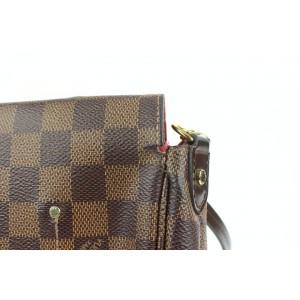 Louis Vuitton Damier Ebene Favorite MM 2way Crossbody Flap Bag 858624