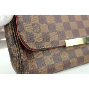 Louis Vuitton Damier Ebene Favorite MM 2way Crossbody Flap Bag 862624