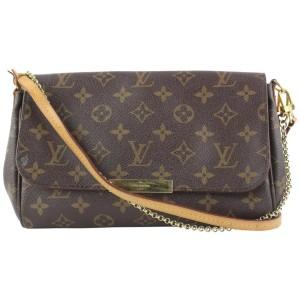Louis Vuitton Monogram Favorite MM 2way Crossbody Flap Bag 9lvs421