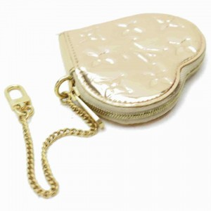 Louis Vuitton  Rare Gold Mirroir Coin Purse Porte Monnaie Coeur Pochette Cles 860663