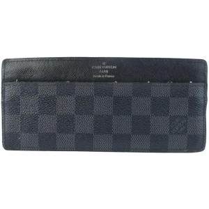 Louis Vuitton Graphite Clutch Damier Card Case Coated Canvas 871164 Wallet