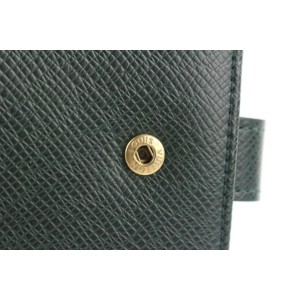 Louis Vuitton  Green Taiga Leather Small Ring Agenda Diary Cover 268lvs216