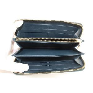 Louis Vuitton Blue Nuit Monogram Vernis Zippy Wallet Long 875lvs412