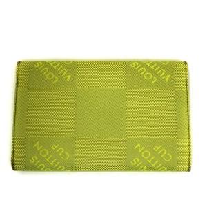 Louis Vuitton Damier Geant Neon Green LV Cup Organizer Wallet 236455