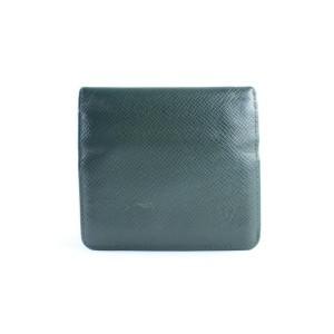 Louis Vuitton Epicea Green Taiga Leather Bifold Wallet 11LR0626