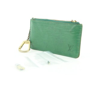 Louis Vuitton Green Epi Leather Key Pouch Pochette Cles 239lvs211