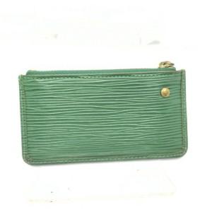 Louis Vuitton Green Epi Leather Pochette Cles Key Pouch  862370