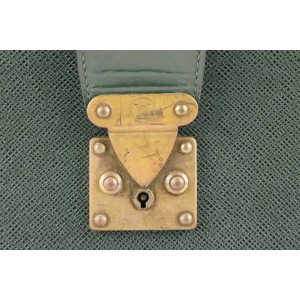 Louis Vuitton Green Taiga Leather Attache Briefcase 399lvs226