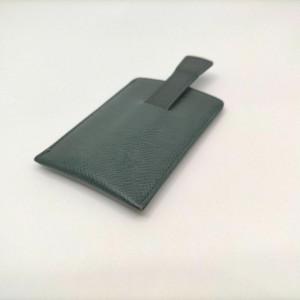 Louis Vuitton Green Taiga Leather Card Case Etui Cartes De Visite Toilette 861451
