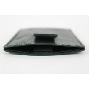 Louis Vuitton Green Taiga Leather Card Holder 15lvs1231